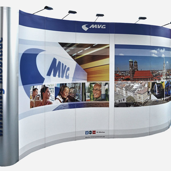 Exhibition Stand Builders In Munich : Folding displays msm in munich germany exhibition booth